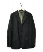 ()の古着「裏ストライプ3Bジャケット」|ブラック