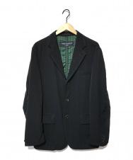COMME des GARCONS (コムデギャルソン) 袖縮絨裏ストライプジャケット ブラック サイズ:S HN-J062 AD2004