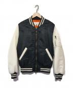 GANRYU(ガンリュウ)の古着「MA-1ジャケット」 ブラック×ホワイト