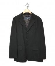 COMME des GARCONS HOMME (コムデギャルソン オム) ウールテーラードジャケット ブラック サイズ:M HR-J061 AD2006