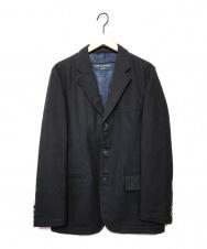 COMME des GARCONS (コムデギャルソン) ウールテーラードジャケット ネイビー サイズ:S HR-J061 AD2006