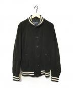 COMME des GARCONS HOMME(コムデギャルソン オム)の古着「コーデュロイスタジアムジャケット」 ブラック
