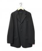 COMME des GARCONS HOMME(コムデギャルソン オム)の古着「3Bウールモヘアジャケット」 ブラック