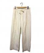 45rpm()の古着「ライトモールスキンリボンベルトパンツ」 ホワイト