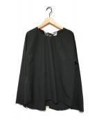 ()の古着「バックレースアップブラウス」|ブラック