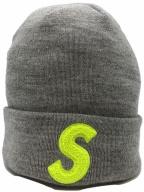 SUPREME×NEWERA(シュプリーム×ニューエラ)の古着「Sロゴニット帽」|グレー