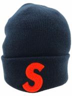 SUPREME×NEWERA(シュプリーム×ニューエラ)の古着「Sロゴニット帽」|ネイビー
