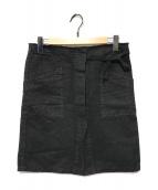 ()の古着「ヘンプブレンドスリットミニスカート」 ブラウン