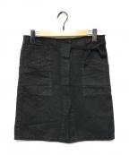 Maison Martin Margiela 6(メゾン マルタンマルジェラ 6)の古着「ヘンプブレンドスリットミニスカート」|ブラウン
