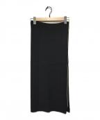 Y's(ワイズ)の古着「ニットスカート」|ブラック