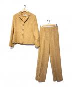 MaxMara(マックスマーラ)の古着「ミックスウールジャケットセットアップ」|ベージュ