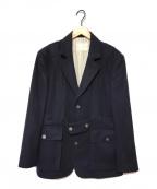 Black Fleece(ブラックフリース)の古着「カシミヤサファリテーラードジャケット」|ネイビー