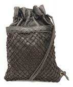 ()の古着「巾着レザーメッシュバッグ」|ブラウン