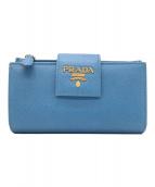 ()の古着「サフィアーノルクス / 2つ折り財布」|ブルー