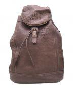 土屋鞄(ツチヤカバン)の古着「トーンオイルヌメ ソフトバックパック」|ブラウン