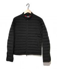 ARMANI EXCHANGE (アルマーニエクスチェンジ) ダウンジャケット ブラック×レッド サイズ:S