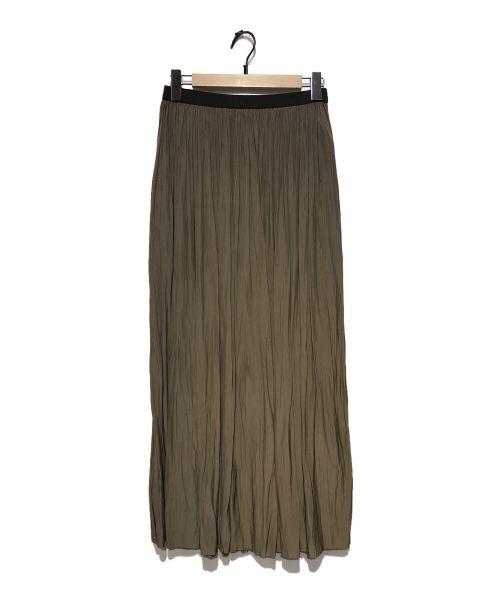 AP STUDIO(エーピーストゥディオ)AP STUDIO (エーピーストゥディオ) サテンギャザースカート オリーブ サイズ:-の古着・服飾アイテム
