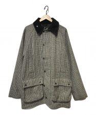 Barbour (バブアー) ビューフォートグレンチェックジャケット/コート ブラック×ホワイト サイズ:40