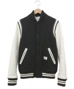 BEDWIN(ベドウィン)の古着「アワードジャケット」 ホワイト×ブラック