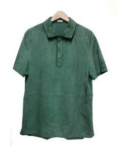 LOEWE(ロエベ)の古着「スウェードレザーシャツ」|グリーン