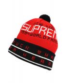 Supreme(シュプリーム)の古着「ポン付きニット帽」|レッド×ブラック