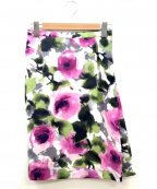 HANAE MORI(ハナエモリ)の古着「花柄スカート」 パープル