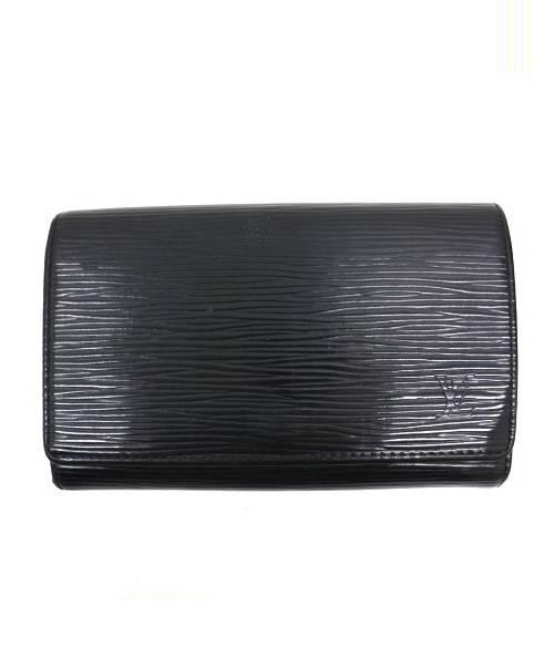 6771ea25d815 ... 2つ折り財布 ブラック M63502 エピ ポルトフォイユ・トレゾール. LOUIS VUITTON