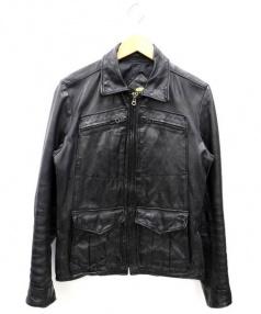 Hysteric Glamour(ヒステリックグラマー)の古着「ラムレザージャケット」 ブラック