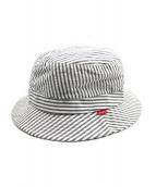 Supreme(シュプリーム)の古着「Seersucker Bucket Hat」|グレー