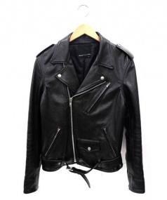 LAD MUSICIAN(ラッドミュージシャン)の古着「レザーライダースジャケット」 ブラック