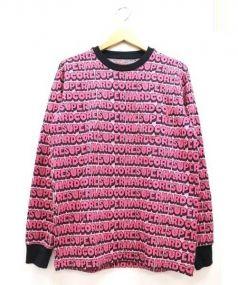 Supreme(シュプリーム)の古着「総柄ロゴスウェット」|ピンク