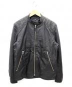 Vaporize(ヴェイパライズ)の古着「ラムレザージャケット」 ブラック