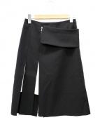 ADORE(アドーア)の古着「ヘヴィストレッチスプリットミディスカート」|ブラック