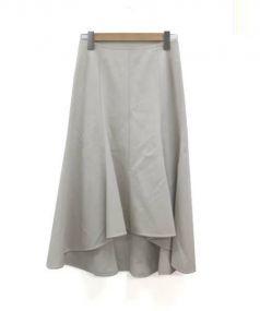 ADORE(アドーア)の古着「ミラノジャージフレアスカート」|アイボリー