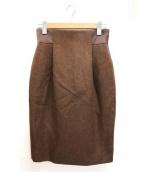 MACKINTOSH(マッキントッシュ)の古着「ウールタイトスカート」|ブラウン