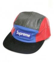 Supreme(シュプリーム)の古着「BOXロゴレザーキャップ」|ブルー×レッド×ブラック