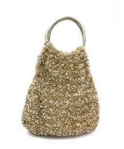 ANTEPRIMA(アンテプリマ)の古着「ワイヤーハンドバッグ」|ゴールド