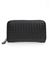 BOTTEGA VENETA(ボッテガヴェネタ)の古着「ラウンドファスナー財布」|ブラック