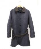 FRANK LEDER(フランクリーダー)の古着「ツイードシングルコート」 グレー×ブラウン