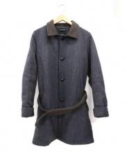FRANK LEDER(フランクリーダー)の古着「ツイードシングルコート」|グレー×ブラウン