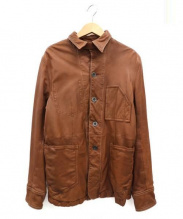 SHIPS(シップス)の古着「ラムレザーシャツジャケット」|ブラウン