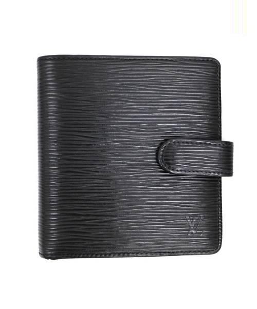 538a3f81e825 中古・古着通販】LOUIS VUITTON (ルイ・ヴィトン) 2つ折り財布 ブラック ...