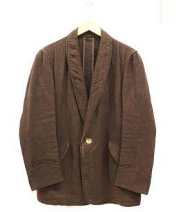 BROWN by 2-tacs(ブラウン バイ ツータックス)の古着「リネン混テーラードジャケット」 ブラウン