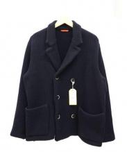 BARENA(バレナ)の古着「Wニットジャケット」|ネイビー