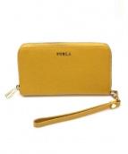 FURLA(フルラ)の古着「ラウンドファスナー財布」|オレンジ