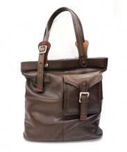 CORBO(コルボ)の古着「レザートートバッグ」|ブラウン