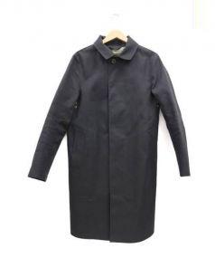MACKINTOSH(マッキントッシュ)の古着「ゴム引きステンカラーコート」|ブラック