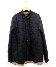 John UNDERCOVER(ジョンアンダーカバー)の古着「中綿キルティングシャツ」|ブラック