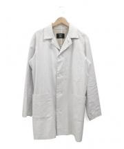 CABANE de ZUCCa(カバンドズッカ)の古着「コーティングリネンコート」|ホワイト