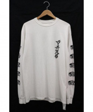SASQUATCHfabrix.(サスクワッチ ファブリックス)の古着「スリーブロゴカットソー」|ホワイト